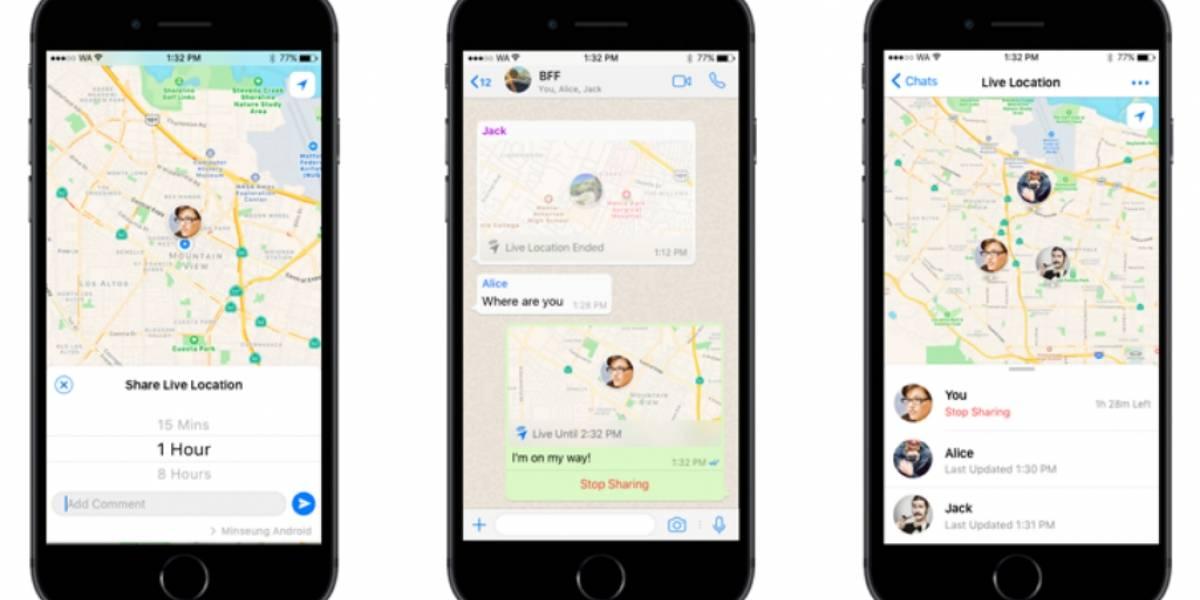 WhatsApp te permitirá compartir tu ubicación en tiempo real