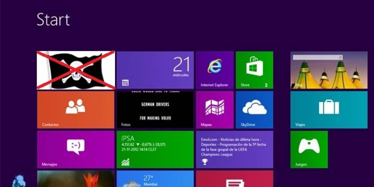 Microsoft corrige vulnerabilidad que permitía activar gratuitamente Windows 8