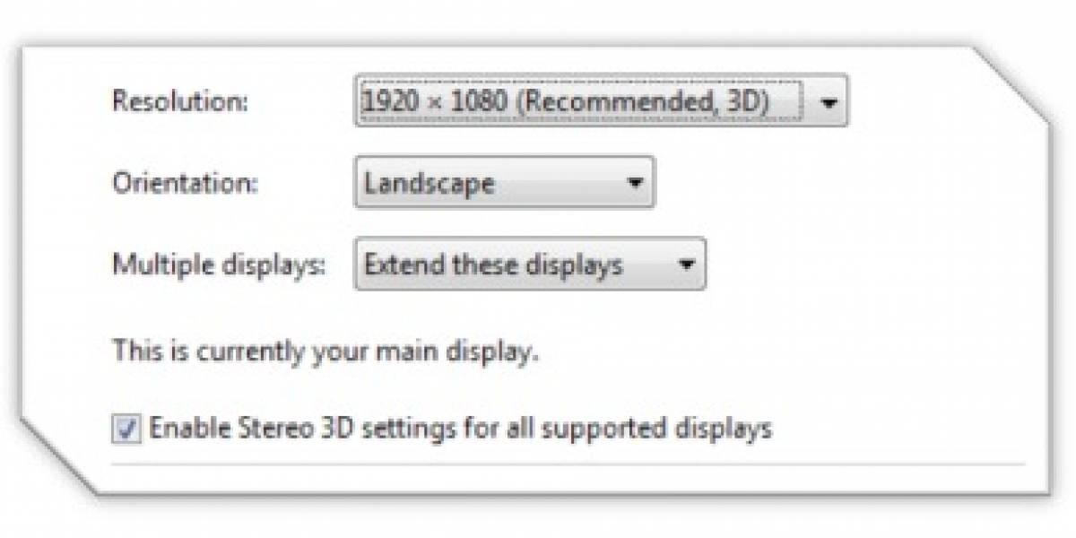 Windows 8: 3D estereoscópico sólo con GPUs Directx 10 y 11