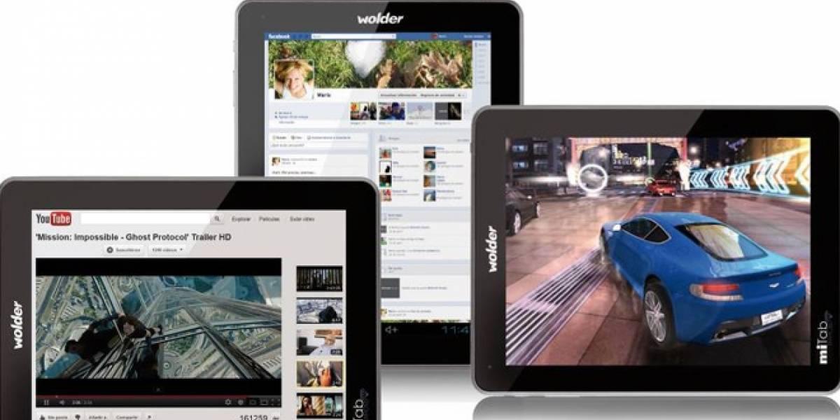 La española Wolder presenta su miTab Diamond, el tablet 'más completo de su gama'
