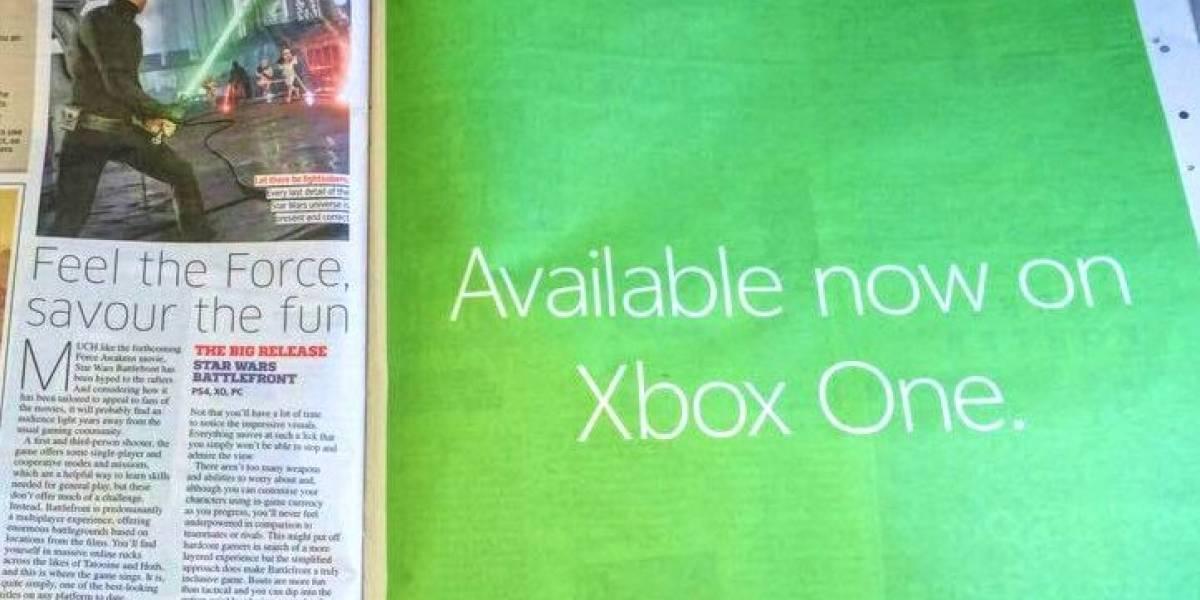 Así promociona Xbox a Star Wars Battlefront, el juego que no pueden promocionar