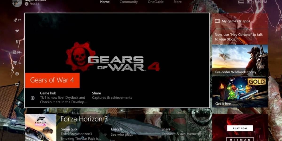 Microsoft libera la nueva actualización de Xbox One