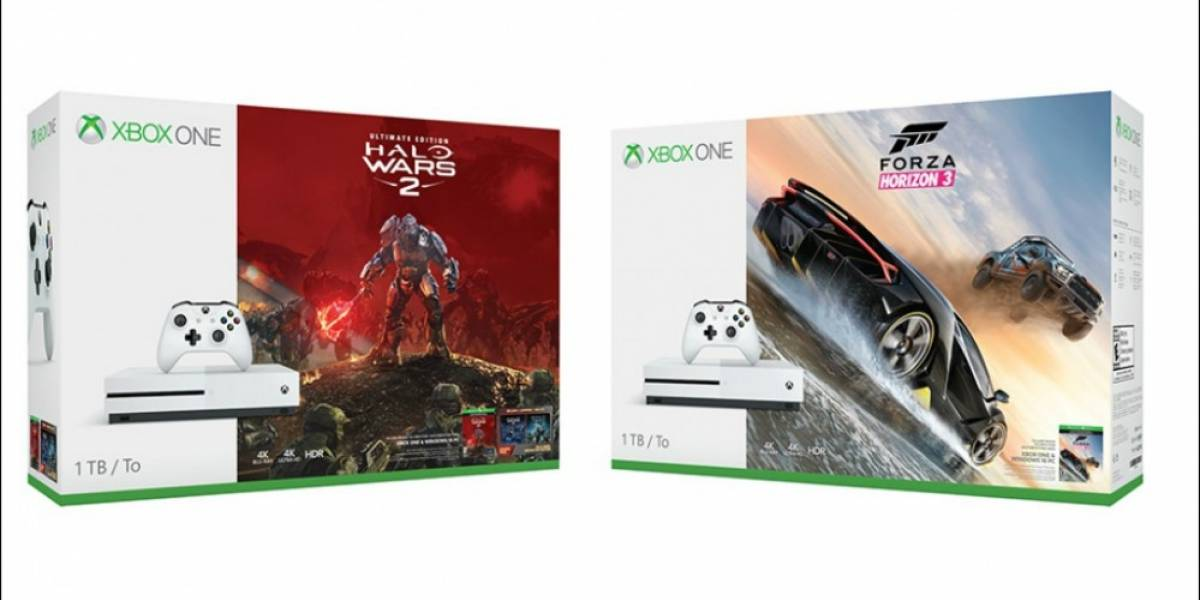 Anuncian bundles de Xbox One S con Halo Wars 2 y Forza Horizon 3
