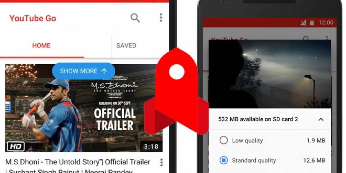 Google presenta YouTube Go para descargar videos y ahorrar datos móviles