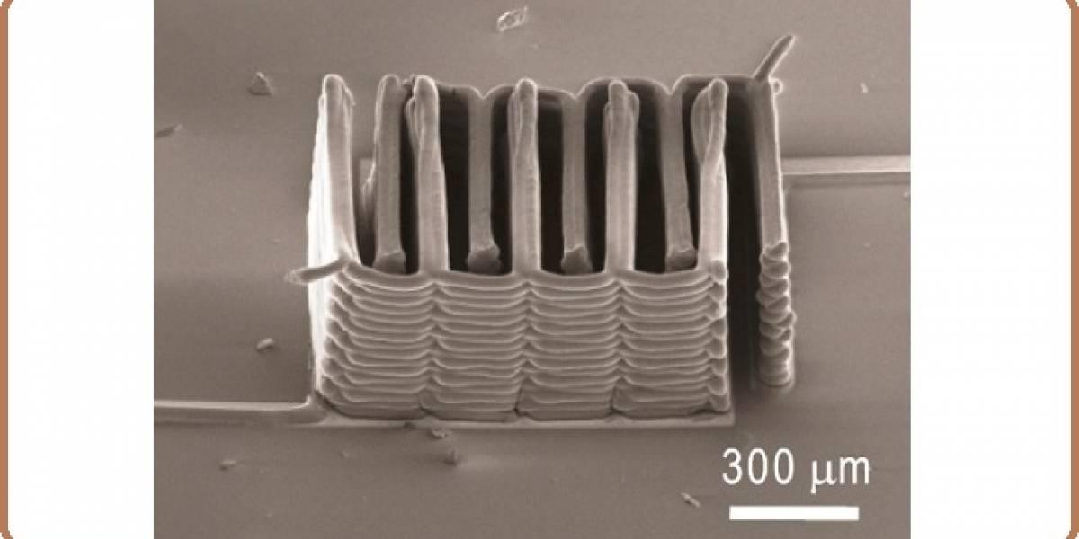 Fabrican batería diminuta por microimpresión 3D