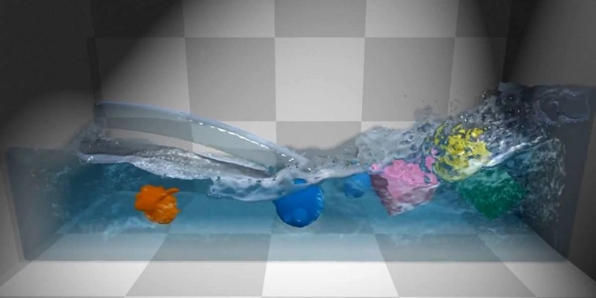 Presentan últimas mejoras en la tecnología de simulación de fluidos Position Based Fluids