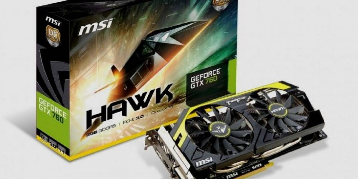 MSI lanza su tarjeta gráfica GeForce GTX 760 HAWK