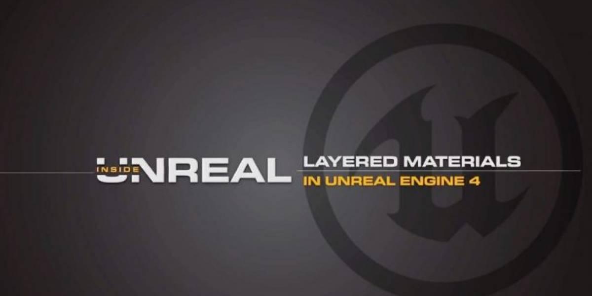 Unreal Engine 4: Materiales en capas para desarrolladores