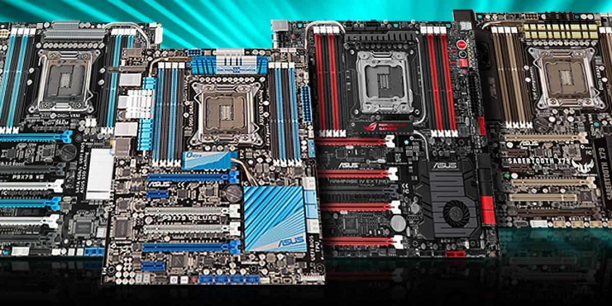ASUS lanza actualizaciones de BIOS para soporte de CPUs Ivy Bridge-E en sus placas X79