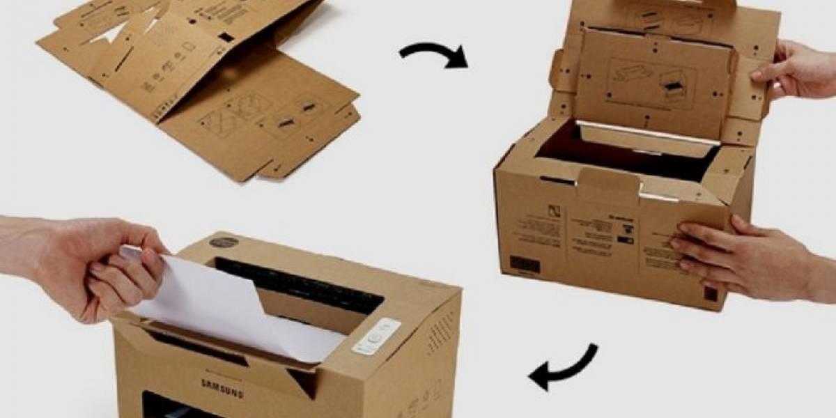 Samsung presenta su impresora de cartón