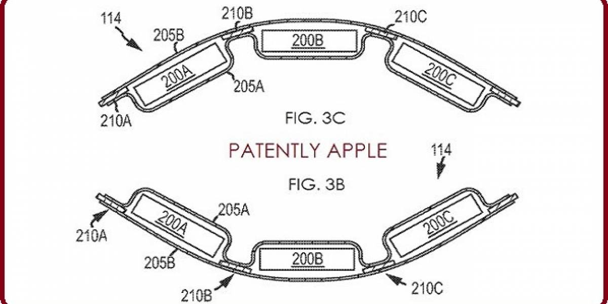 Apple solicita patente para unas baterías flexibles