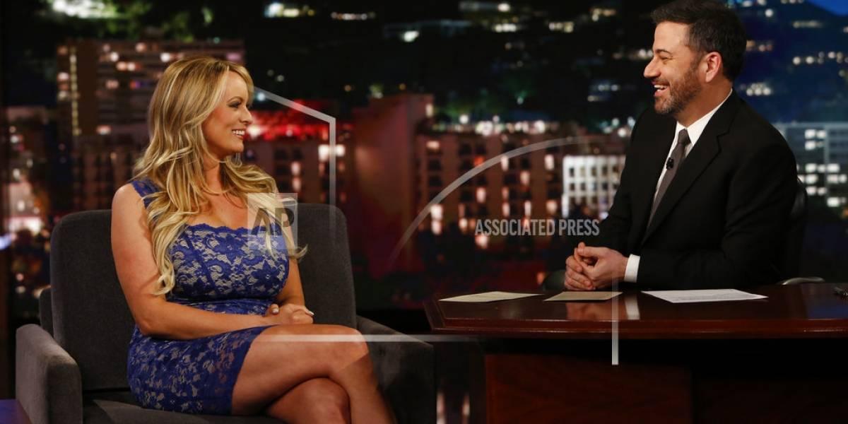 En medio de promoción, actriz porno niega aventura con Trump