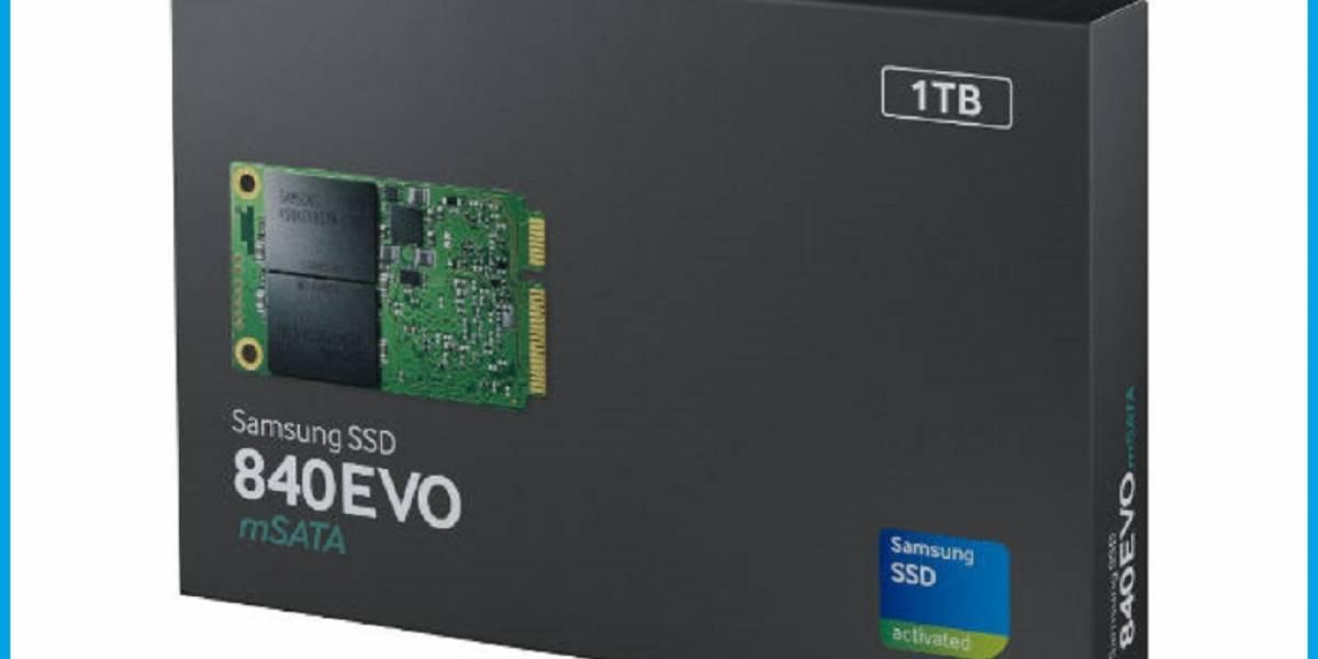 Samsung rompe la barrera de 1TB con su nuevo SSD mSATA 840 EVO