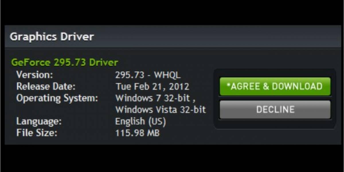 Controladores Geforce/ION 295.73 WHQL solucionan el bug TDR