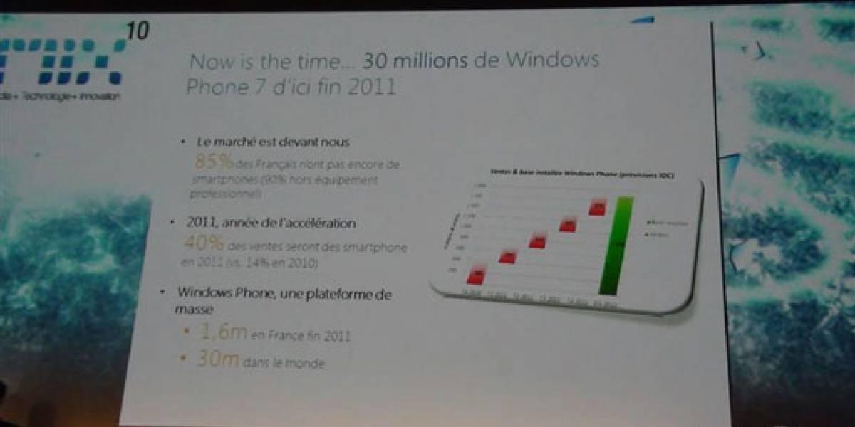Microsoft planea vender 30 millones de móviles con WP7 para antes del 2012