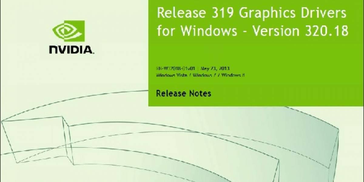 NVIDIA lanza sus nuevos controladores GeForce 320.18 WHQL