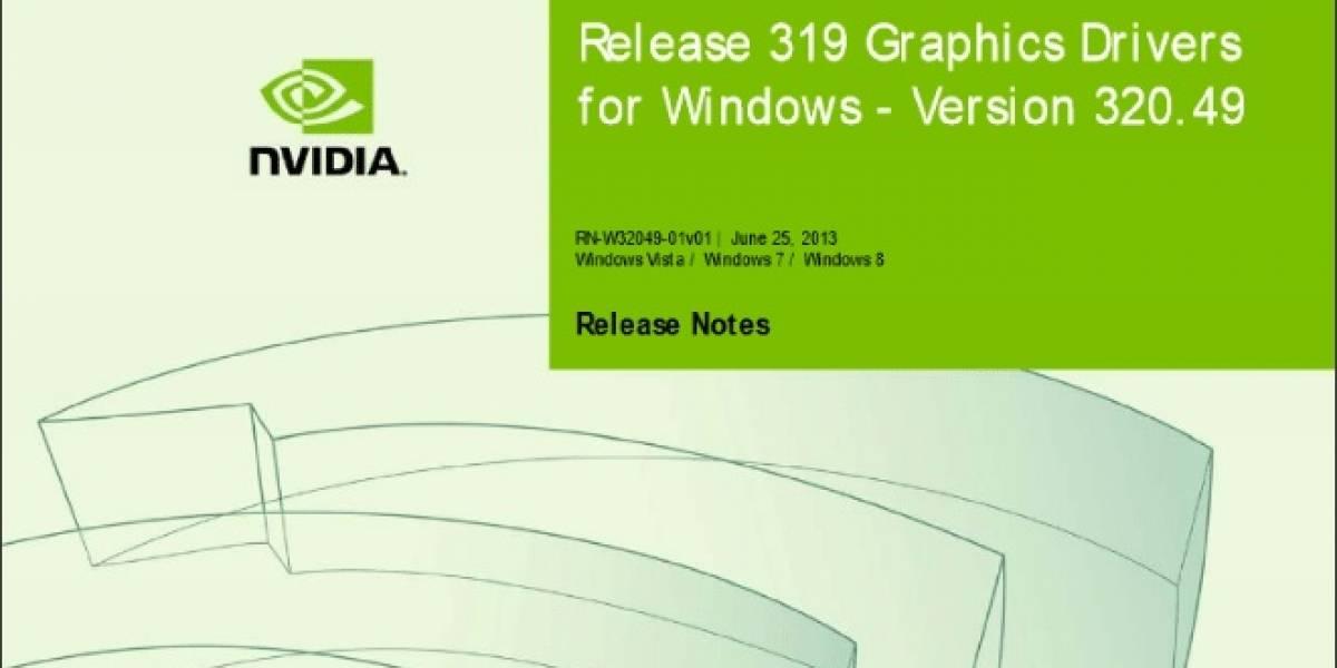 NVIDIA lanza sus controladores GeForce 320.49 WHQL