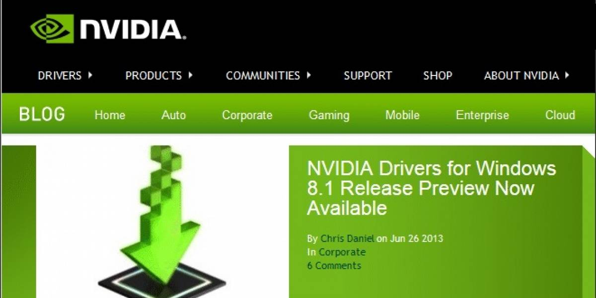 NVIDIA lanza sus controladores GeForce 326.01 WHQL para Windows 8.1 Preview