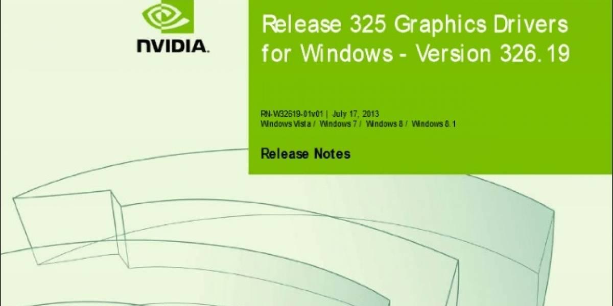 NVIDIA lanza sus controladores GeForce 326.19 Beta