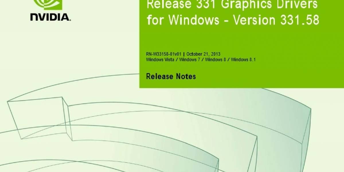 Controladores NVIDIA GeForce 331.58 WHQL a prueba