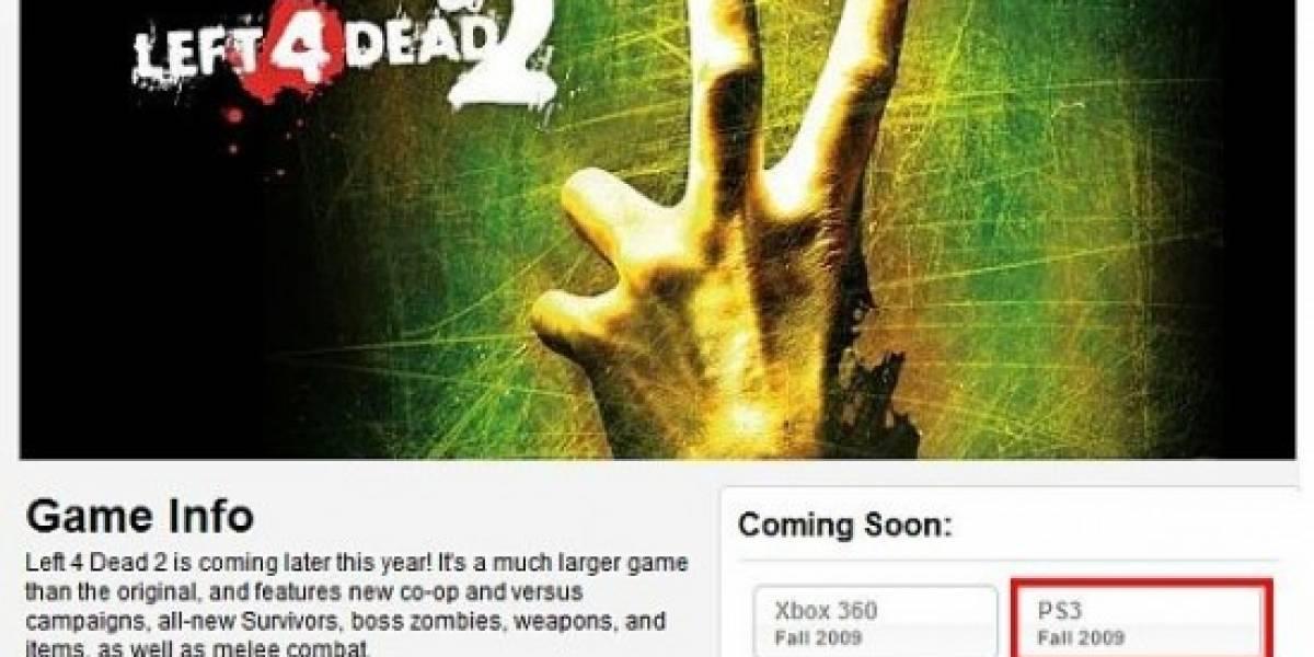 Left 4 Dead 2 para PS3 sólo fue por un rato