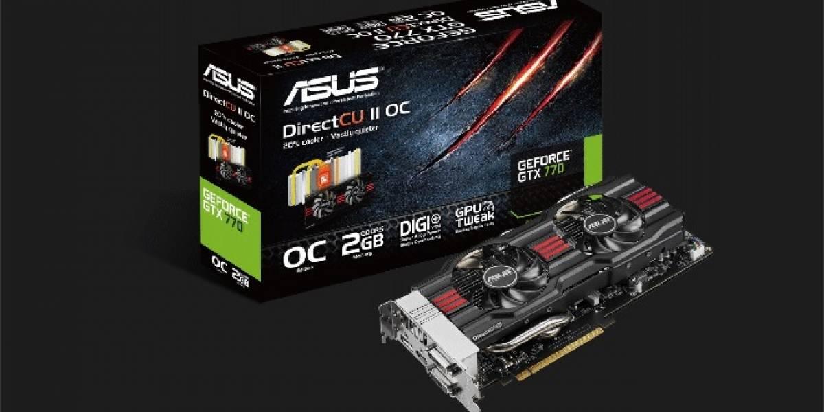 ASUS presenta su tarjeta de video GeForce GTX 770 DirectCU II