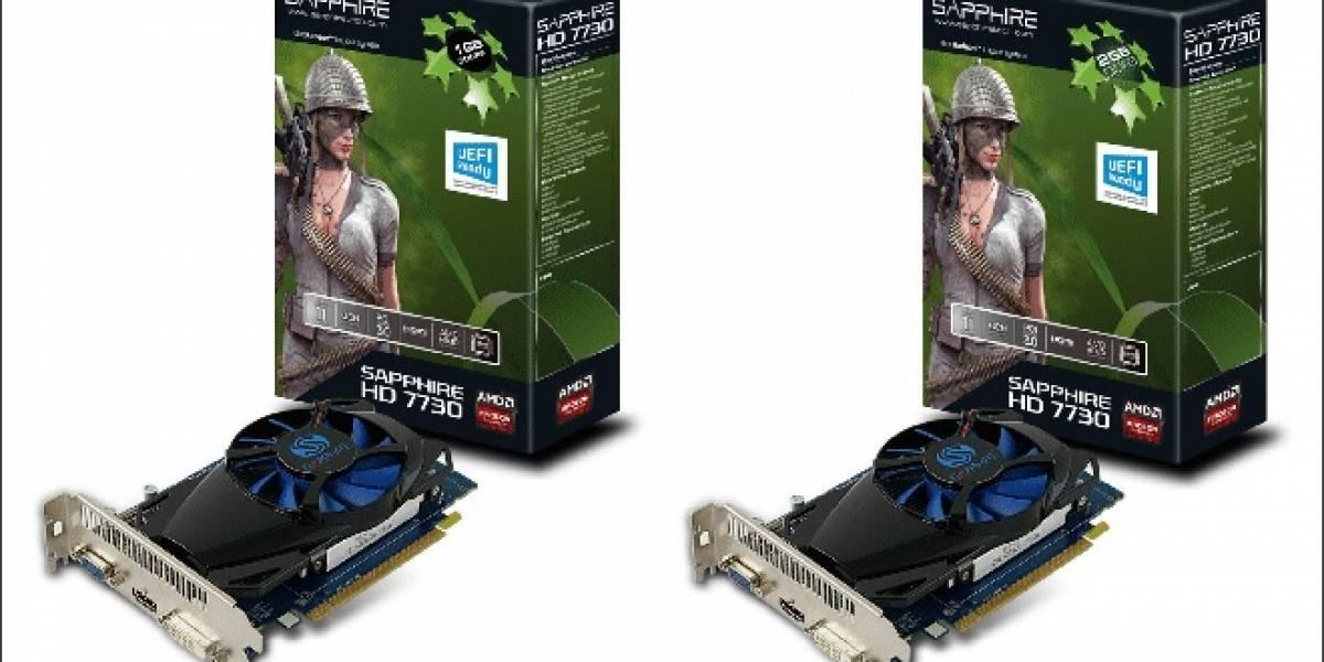 Sapphire lanza sus nuevas tarjetas de video Radeon HD 7730 1GB y 2GB