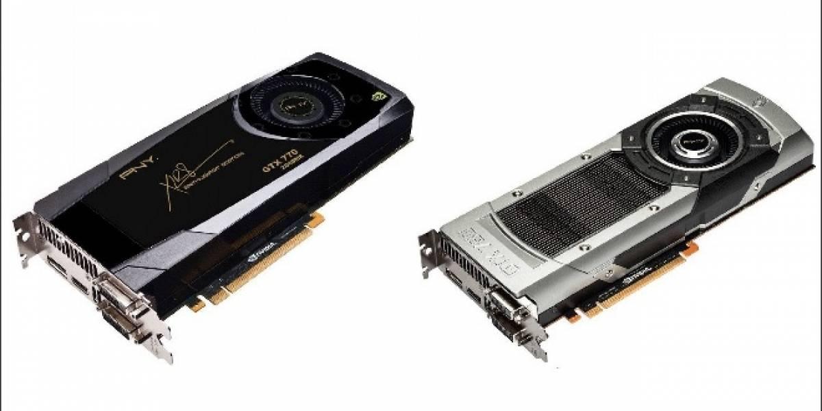 Imágenes de las tarjetas de video NVIDIA GeForce GTX 780 y GeForce GTX 770