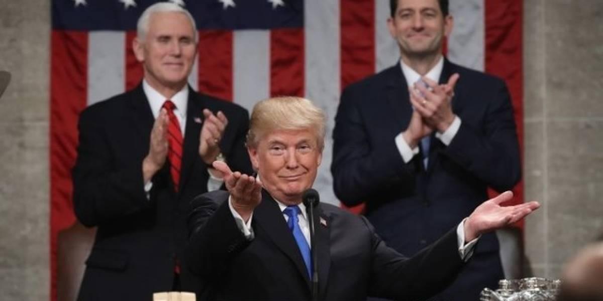 Trump enfoca su mensaje en inmigración e infraestructura