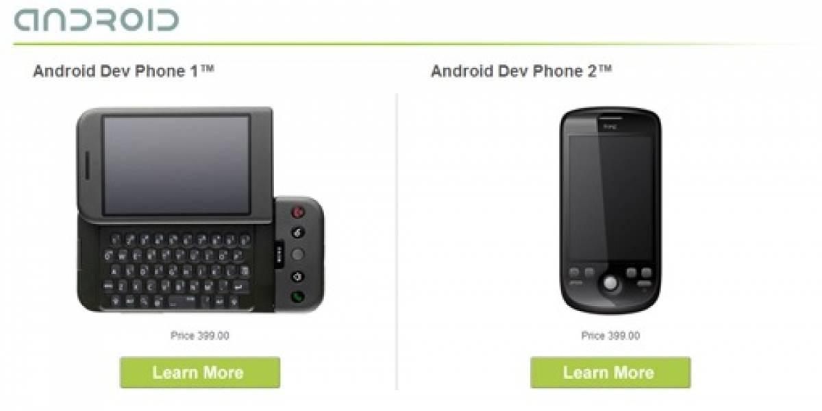 Android Dev Phone 2: Nuevo teléfono para desarrolladores de Android