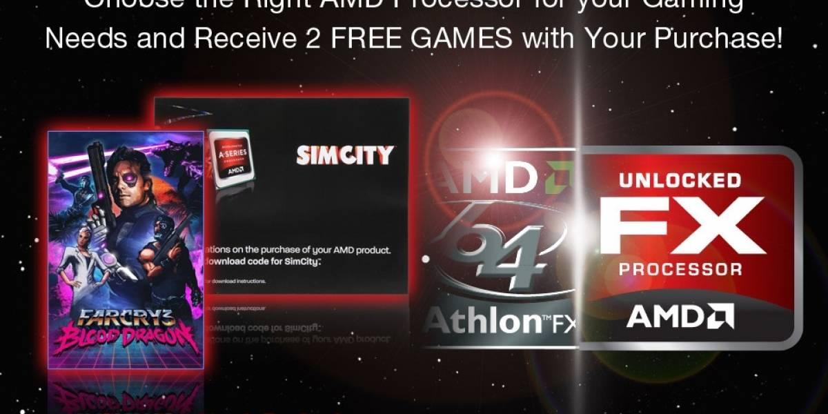 AMD regala Simcity y Farcry 3 Blood Dragon con sus APUs y CPUs