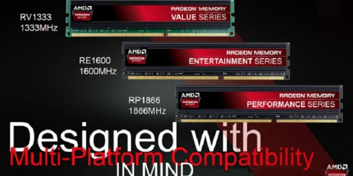 AMD lanza sus módulos de memoria Radeon Gamer Series