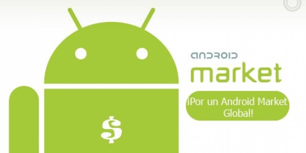 Petición online para aplicaciones Android pagadas en todo el mundo
