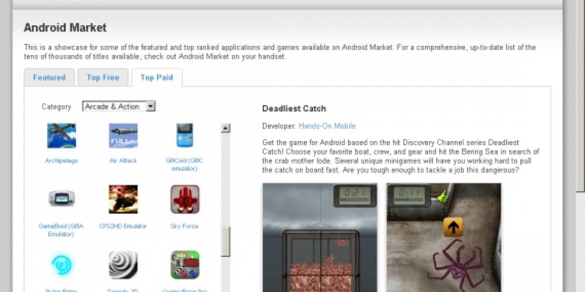 Google actualiza la versión web de Android Market