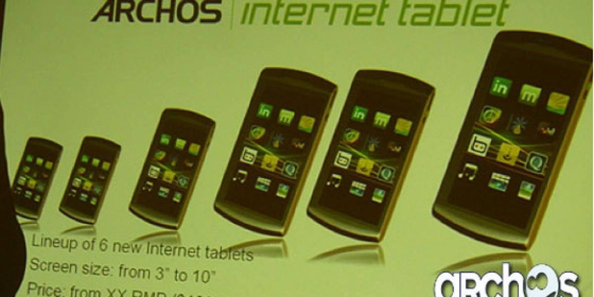 Archos lanzará 6 nuevos Internet Tablet dentro de poco
