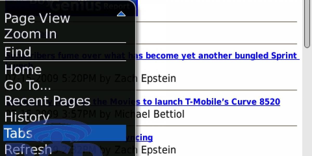 BlackBerry OS 5.0 agregaría pestañas al navegador