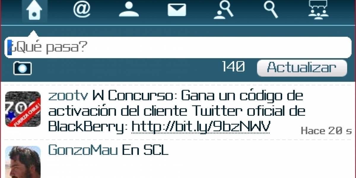 W Concurso: Ganadores de la activación del cliente oficial de Twitter para BlackBerry