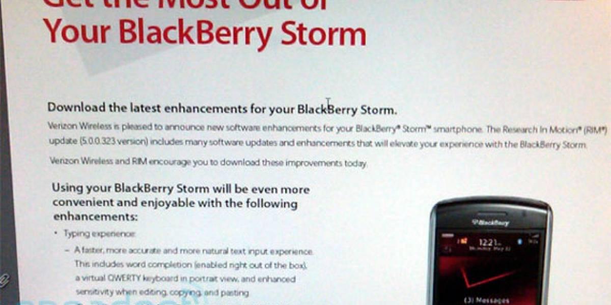 Nueva actualización para la BlackBerry Storm
