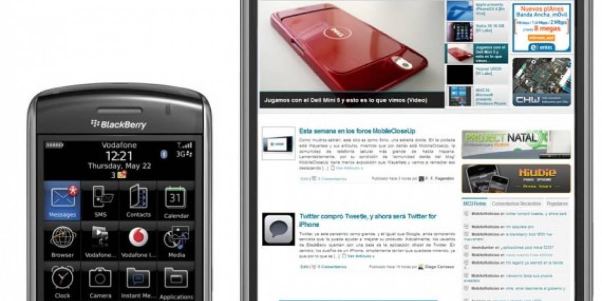 RIM prueba un tablet y un nuevo modelo de Blackberry