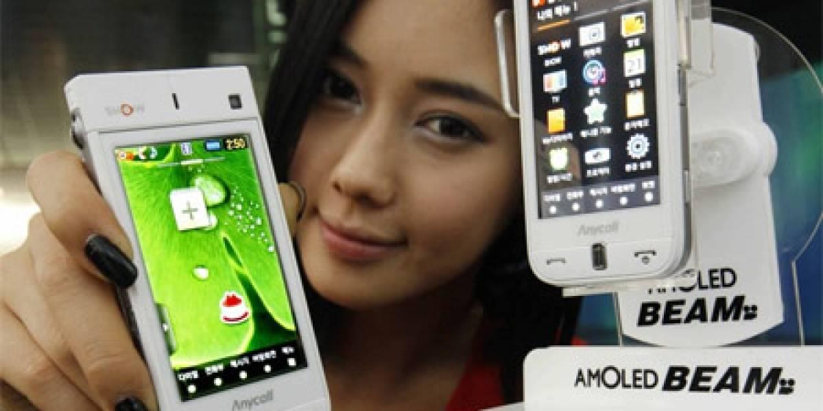 Samsung AMOLED Beam (SPH-W9600), con pico projector