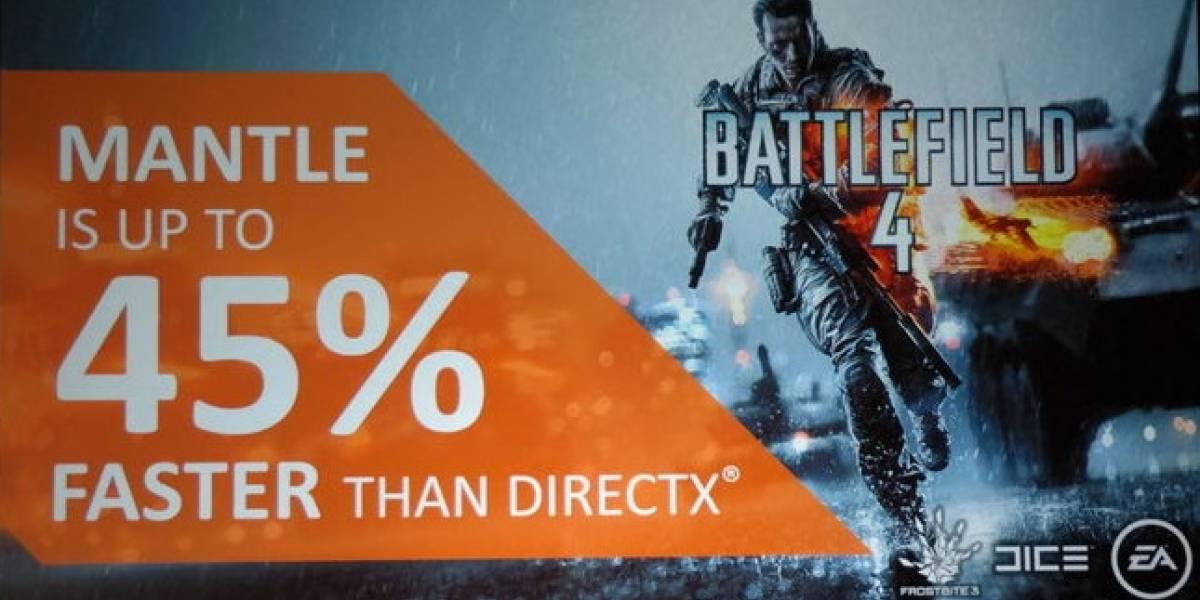 Battlefield 4 tendrá un rendimiento 45% superior con el API Mantle