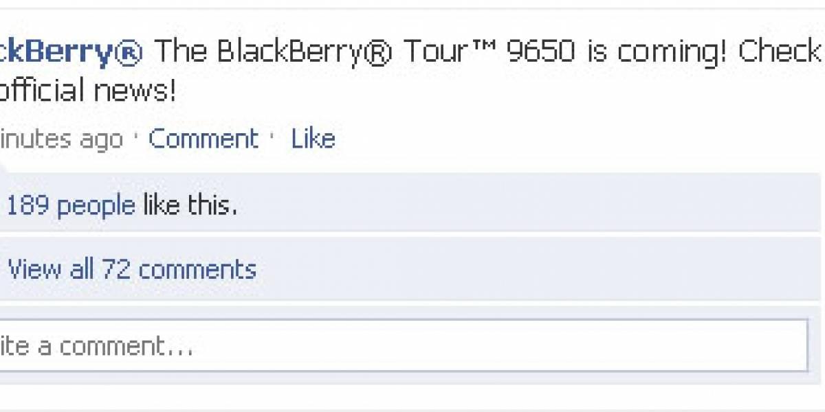 A RIM se le escapa que la BlackBerry Tour 9650 verá la luz pronto