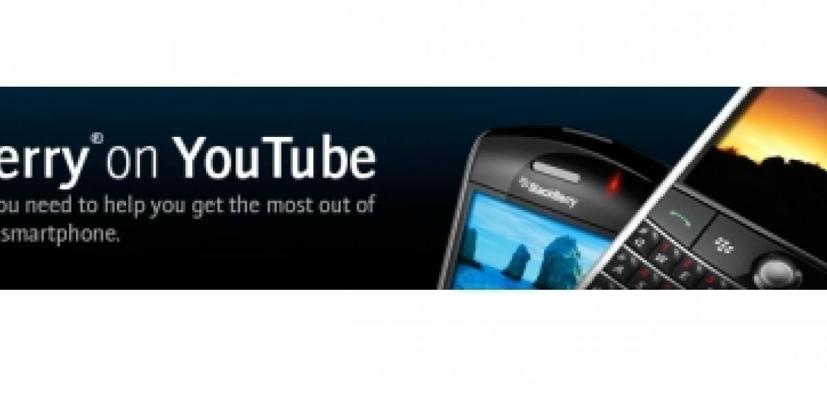 BlackBerry lanza su canal oficial en Youtube