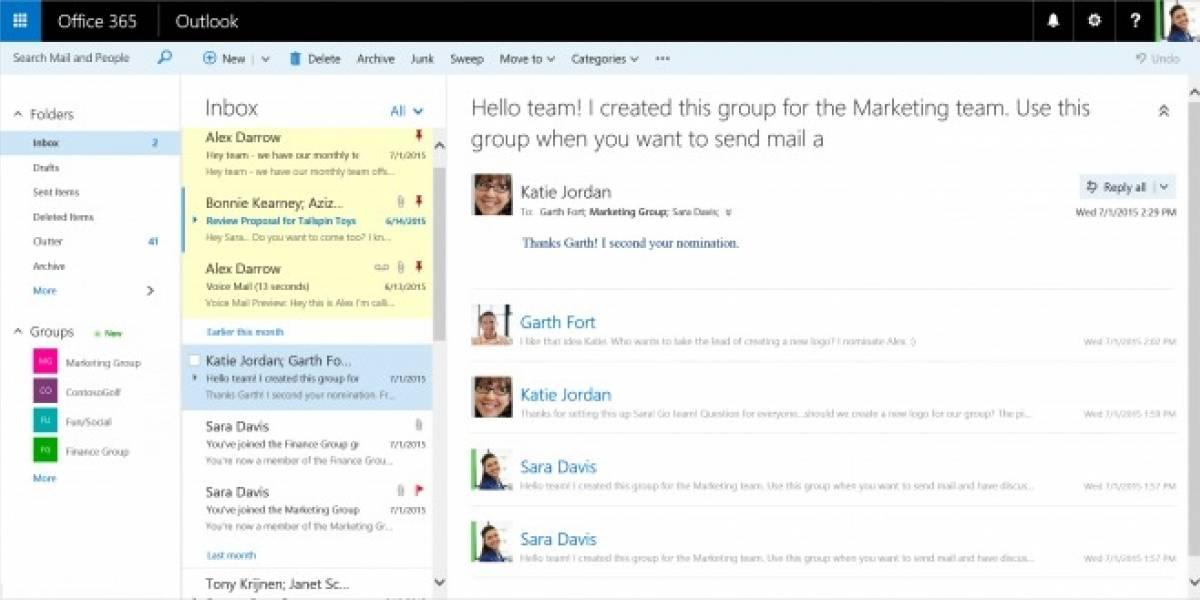 Microsoft rediseña la versión web de Outlook para usuarios de Office 365