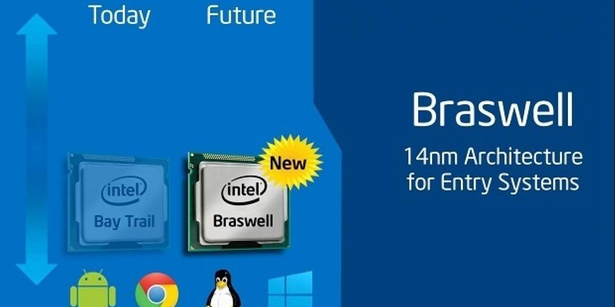 """SoCs Intel Atom Z4000 Series """"Braswell"""" saldrán entre enero y marzo 2015"""