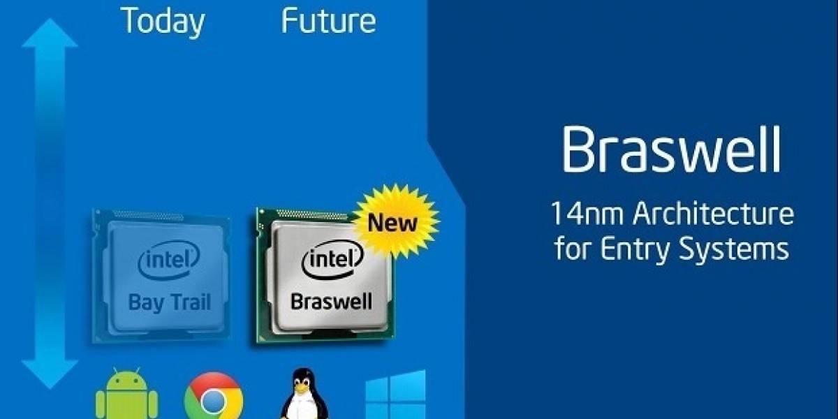 "SoCs Intel Atom ""Braswell"" tendán 16 shader processors"