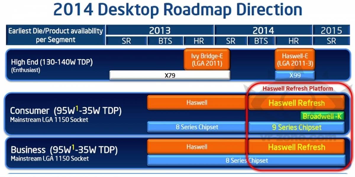 """Especificaciones de los CPUs Intel Core de cuarta generación V2 """"Haswell2-DT"""""""