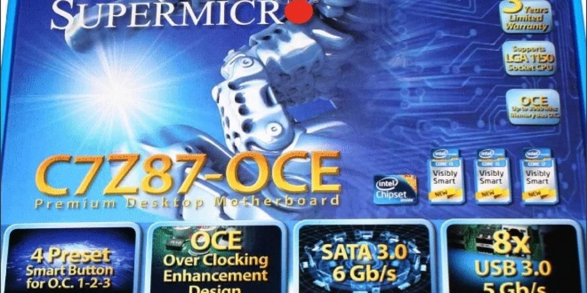 Supermicro ingresa al mercado de consumo con su tarjeta madre C7Z87-OCE