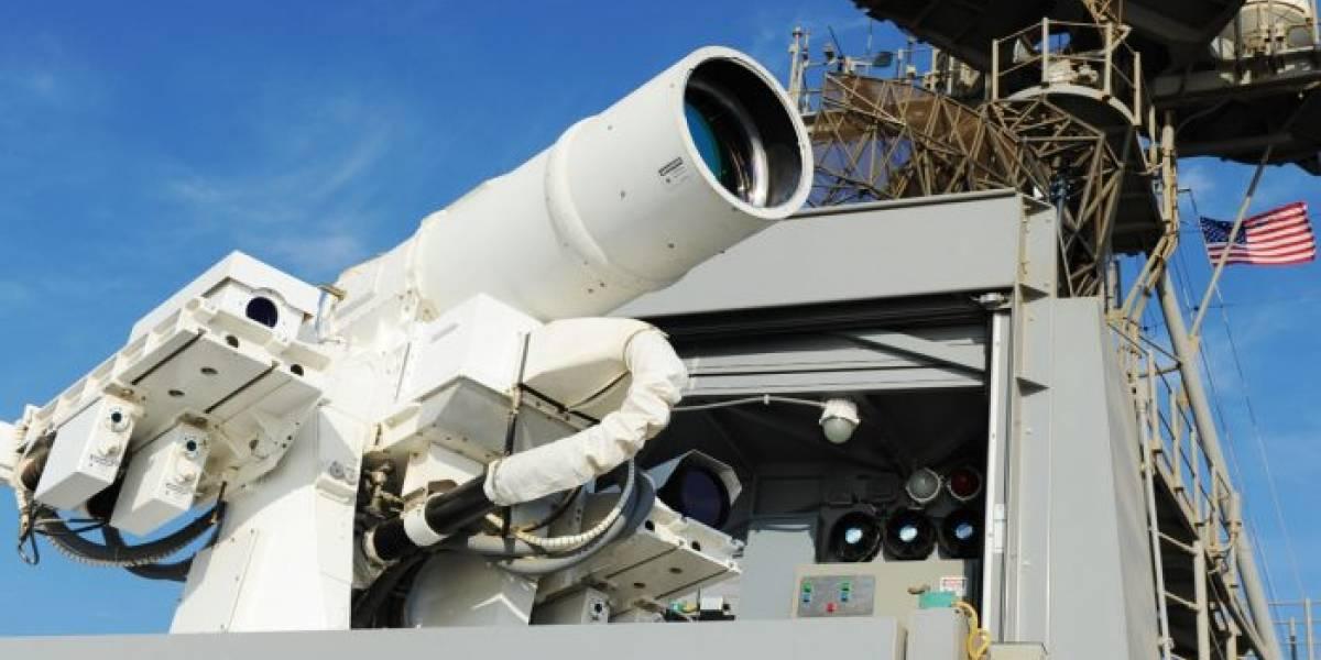 Armada de EE.UU. prueba su super cañón para freír drones