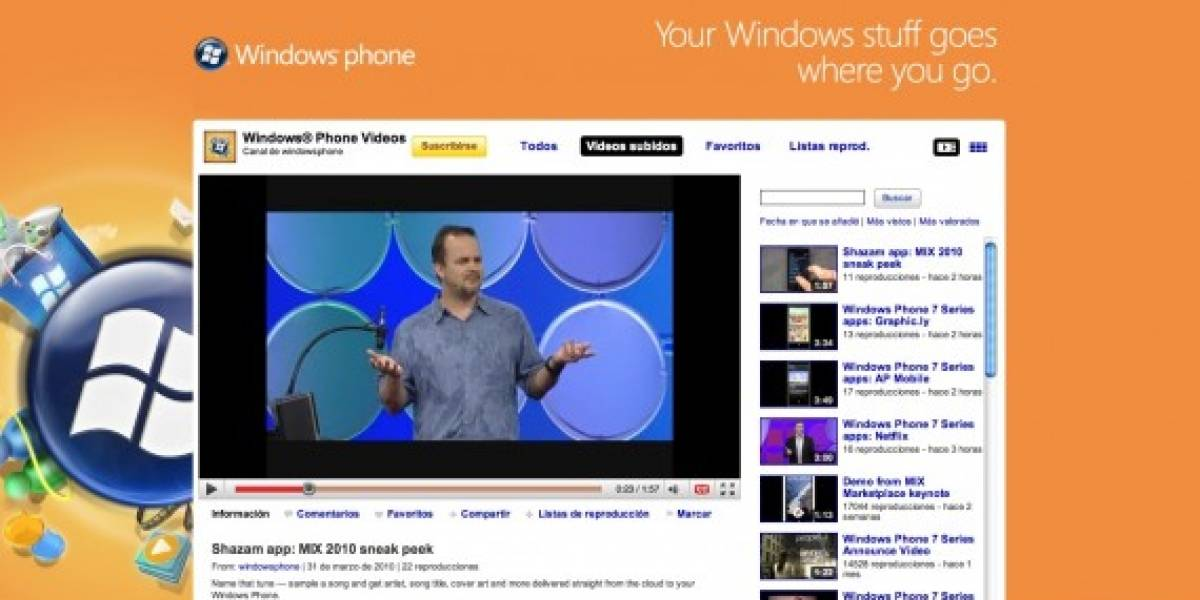 Canal de Windows Phone en YouTube